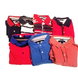 Bundle Of 7 Tommy Hilfiger Polo Shirts